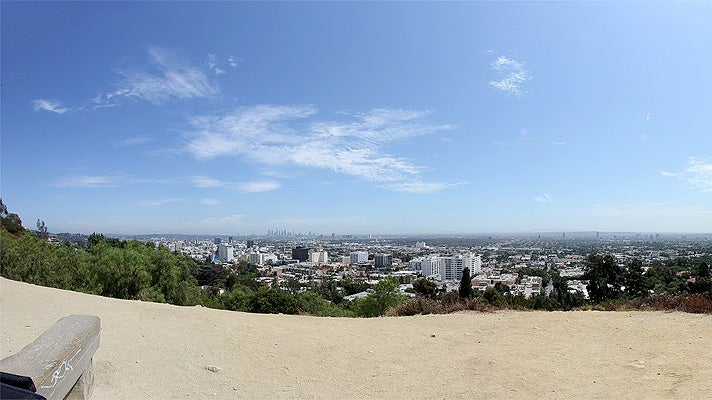 View from Inspiration Point at Runyon Canyon Park