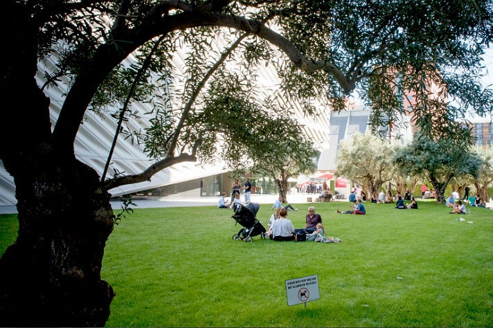 Public plaza at The Broad