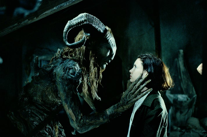 "The Faun and Ofelia in ""Pan's Labyrinth"""