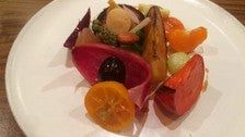 """""""Veggie and fruit plate"""" at Le Comptoir"""