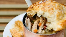 Chicken pot pie at Redbird