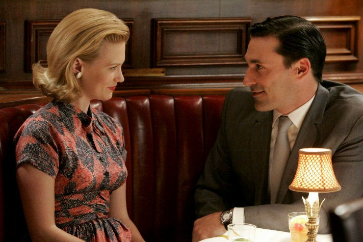"Betty and Don at Toots Shor's from ""Mad Men"" Season One"