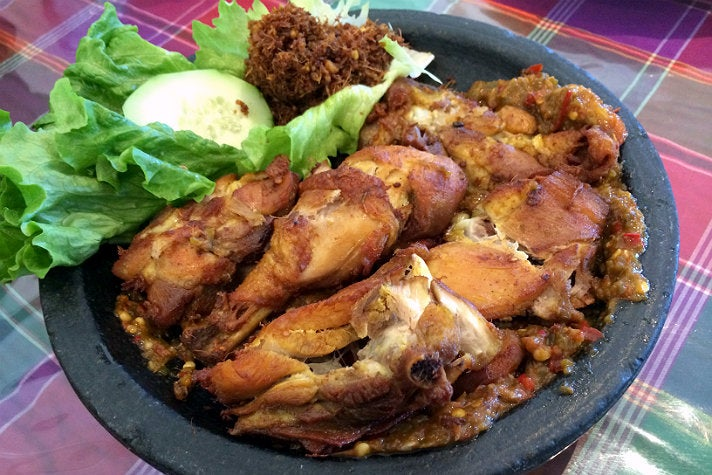 Ayam penyet at Wong Java House