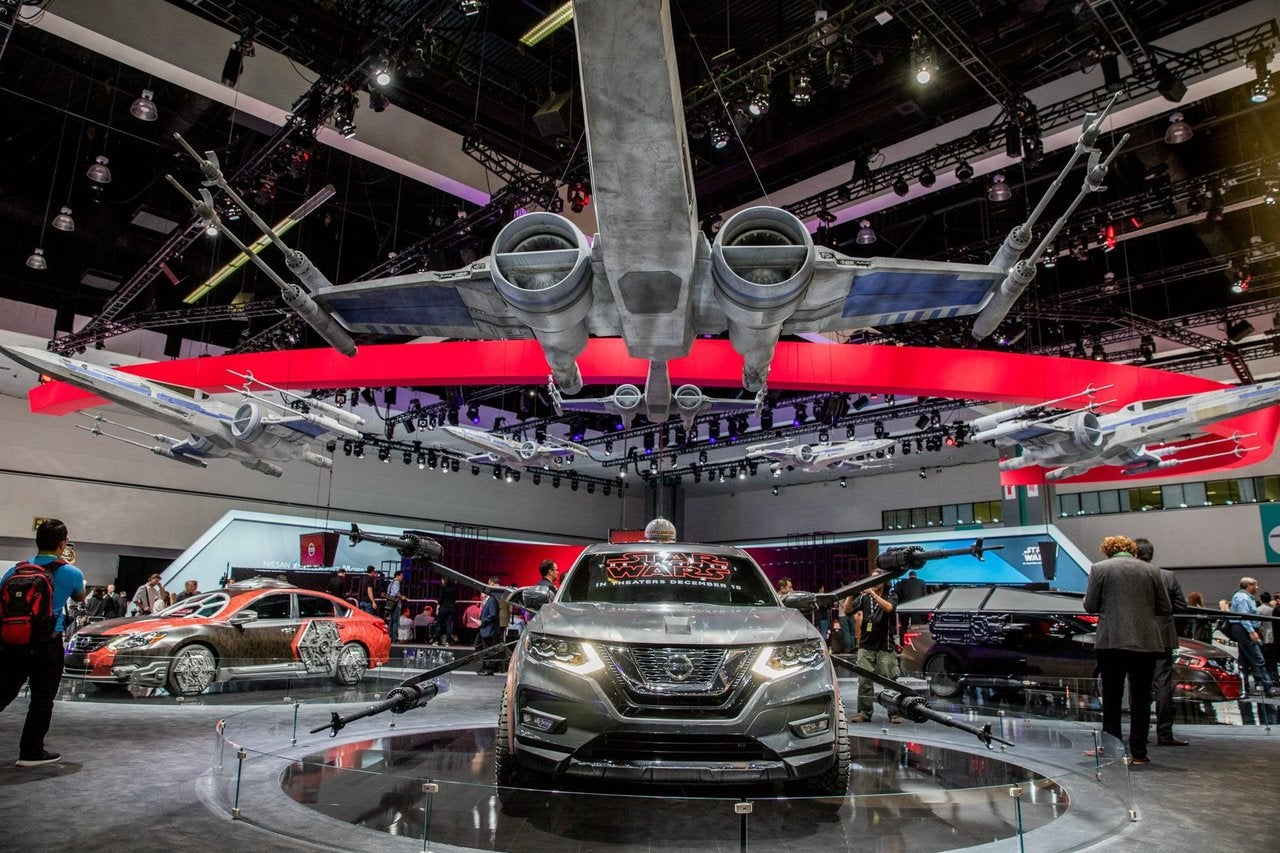 "Custom Nissans inspired by ""Star Wars: The Last Jedi"" at the 2017 L.A. Auto Show"