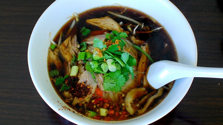 Duck noodle soup at Rodded